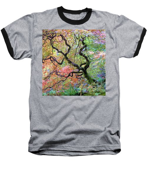 Japanese Maple Baseball T-Shirt by Wendy McKennon