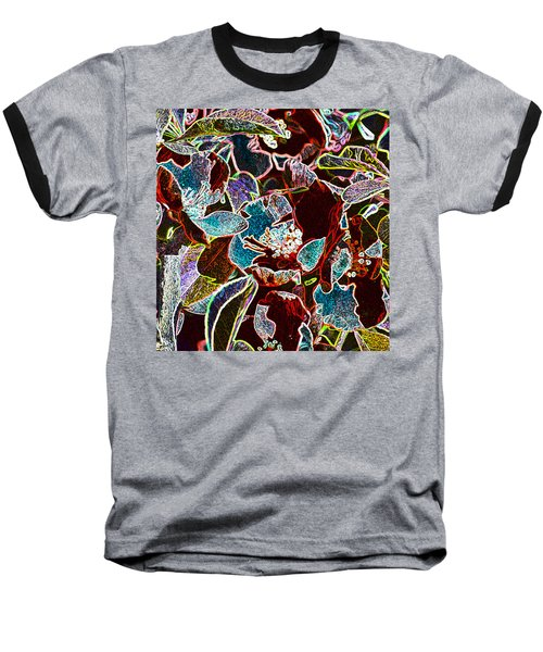 Japanese Quince In Abstract Baseball T-Shirt