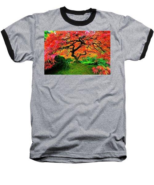 Japanese Red Maple Baseball T-Shirt