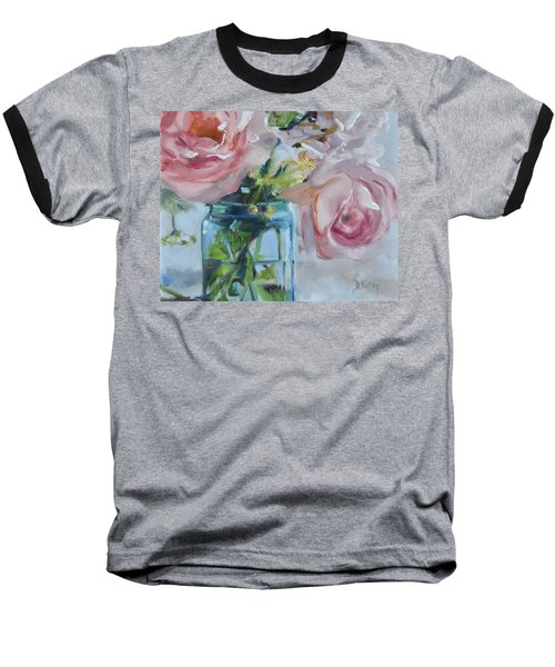 Jar Of Pink Baseball T-Shirt by Donna Tuten