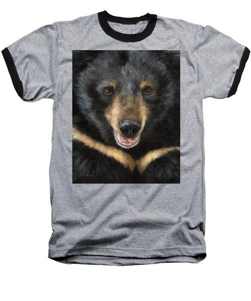 Jasper Moon Bear - In Support Of Animals Asia Baseball T-Shirt by Rachel Stribbling