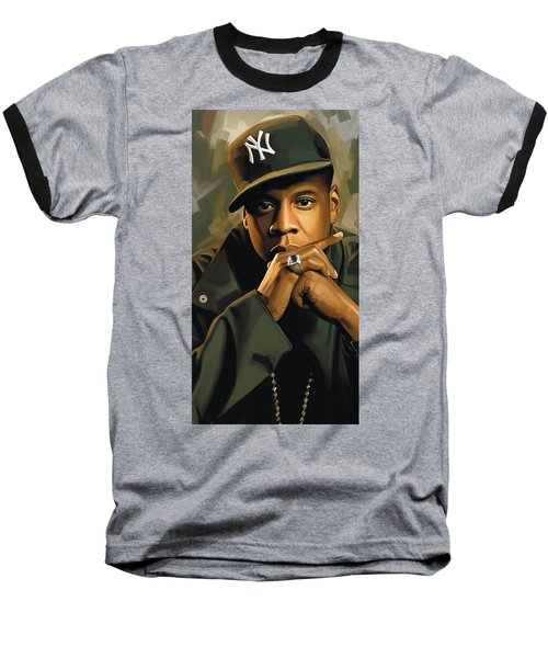 Jay-z Artwork 2 Baseball T-Shirt by Sheraz A