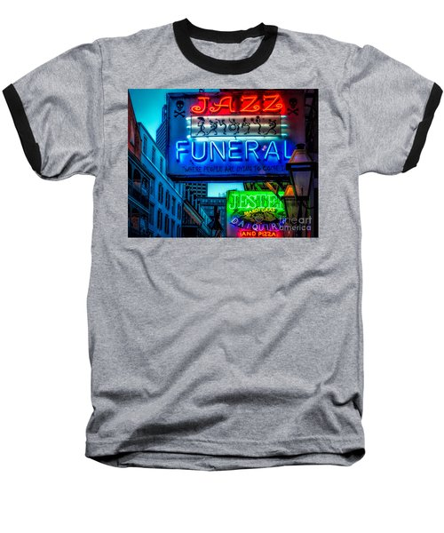 Jazz Funeral And Jester On Bourbon St. Baseball T-Shirt