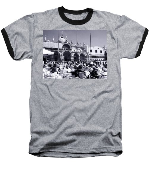 Jazz In Piazza San Marco Black And White  Baseball T-Shirt