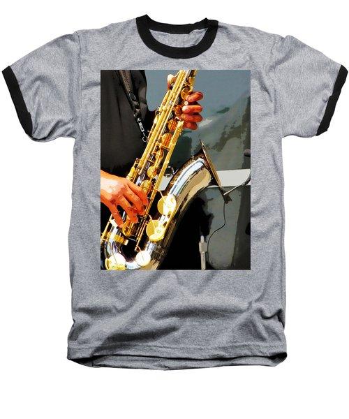 Baseball T-Shirt featuring the photograph Jazz Man by John Freidenberg