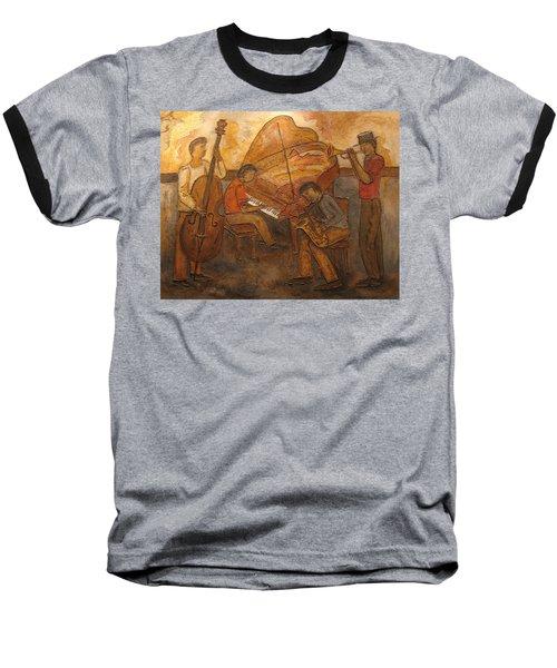 Jazz Quartet Baseball T-Shirt