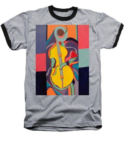 Jazzamatazz Cello Baseball T-Shirt by Angelo Thomas