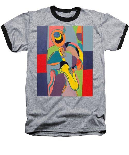 Jazzamatazz Saxophone Baseball T-Shirt