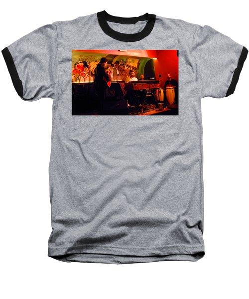 Jc Stylles At Mintons Playhouse Harlem Usa Baseball T-Shirt by Steve Archbold