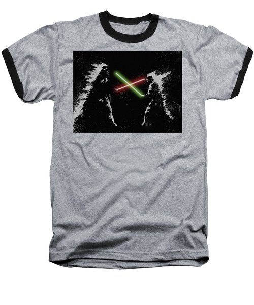 Jedi Duel Baseball T-Shirt by George Pedro