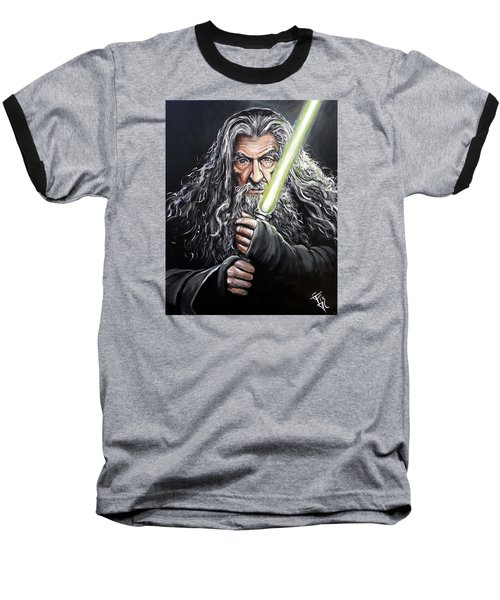 Jedi Master Gandalf Baseball T-Shirt