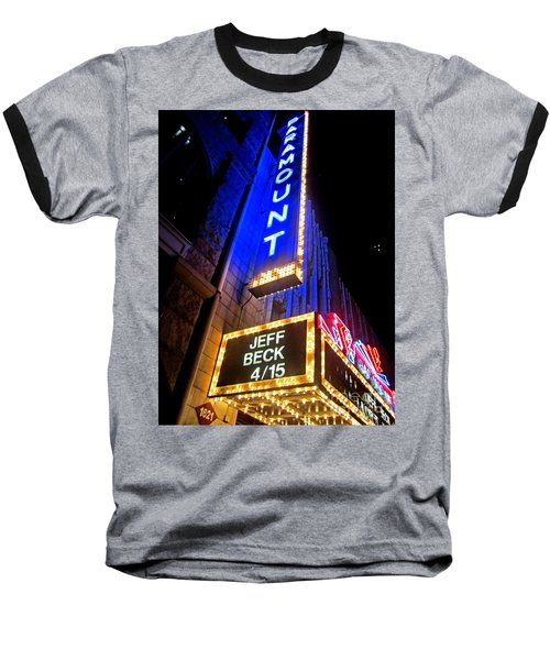 Baseball T-Shirt featuring the photograph Jeff Beck At The Paramount by Fiona Kennard