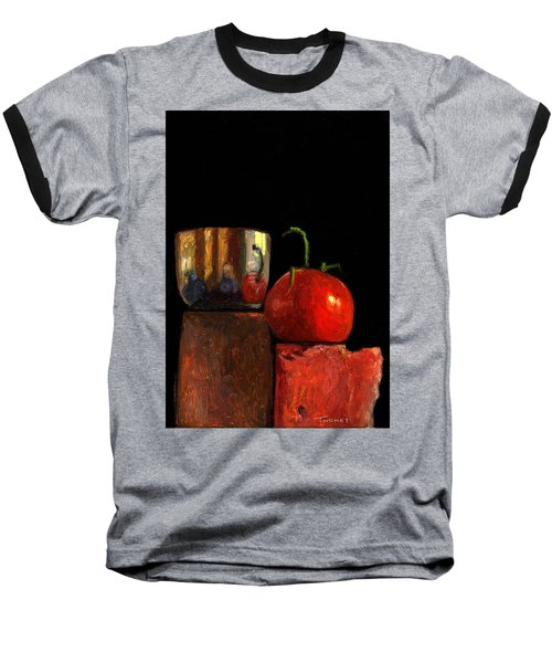 Jefferson Cup With Tomato And Sedona Bricks Baseball T-Shirt by Catherine Twomey