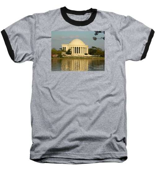 Baseball T-Shirt featuring the photograph Jefferson Memorial At Sunset by Emmy Marie Vickers