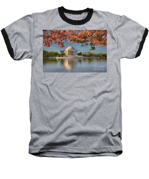 Jefferson Memorial In Spring Baseball T-Shirt