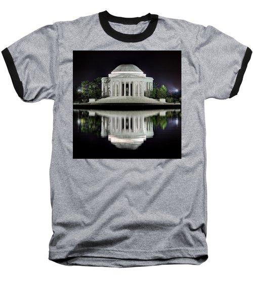 Jefferson Memorial - Night Reflection Baseball T-Shirt