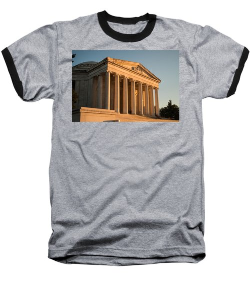 Jefferson Memorial Sunset Baseball T-Shirt by Steve Gadomski