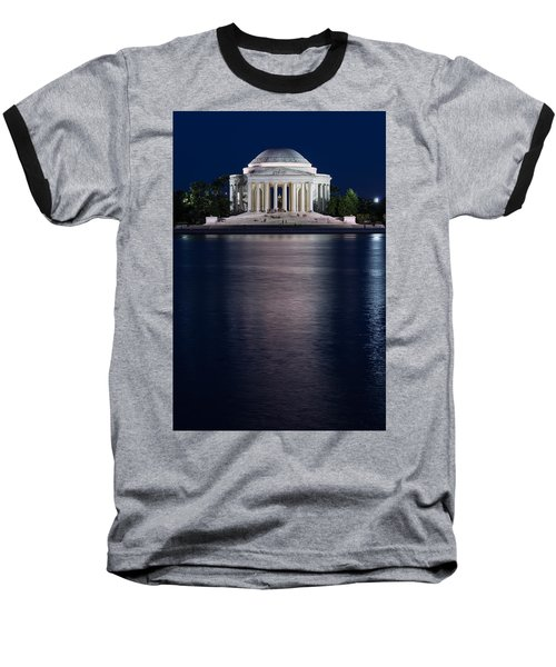 Jefferson Memorial Washington D C Baseball T-Shirt by Steve Gadomski