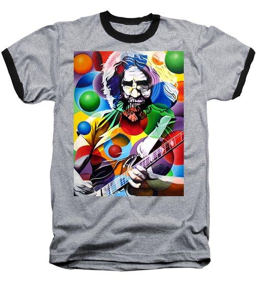 Jerry Garcia In Bubbles Baseball T-Shirt