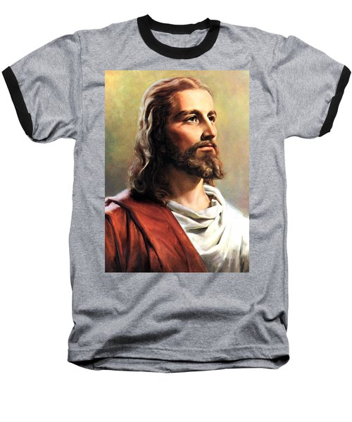 Jesus Christ Baseball T-Shirt by Munir Alawi