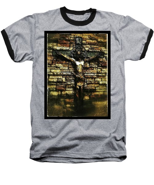 Jesus Coming Into View Baseball T-Shirt