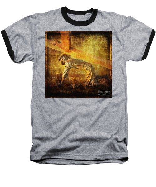 Jesus Falls Again Via Dolorosa 7 Baseball T-Shirt