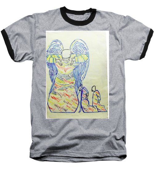 Jesus Guardian Angel Baseball T-Shirt