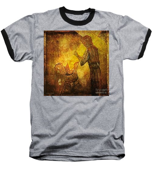Jesus Meets His Mother Via Dolorosa 4  Baseball T-Shirt