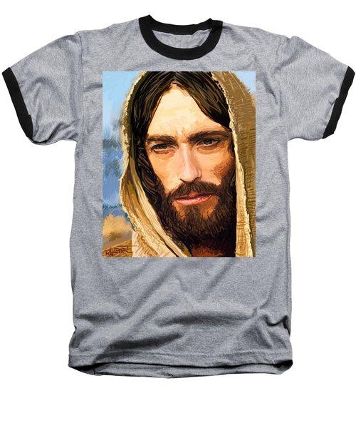 Jesus Of Nazareth Portrait Baseball T-Shirt