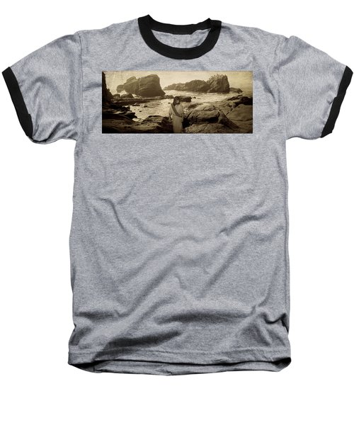 Jesus Walks Among Angels Baseball T-Shirt