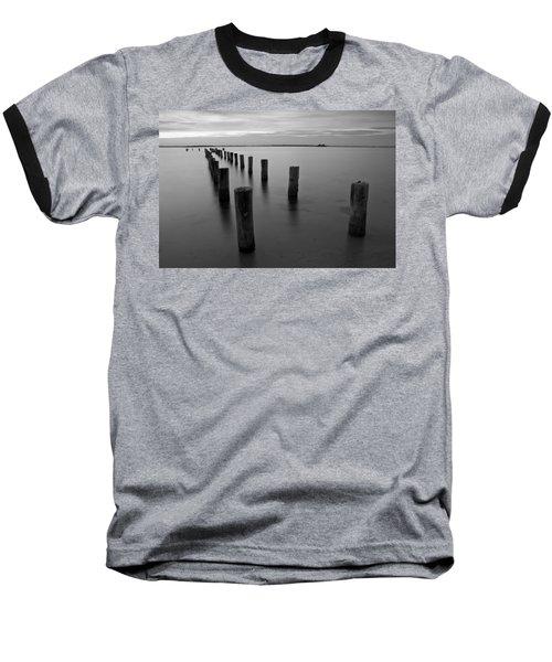 Jetty At Sunset Baseball T-Shirt