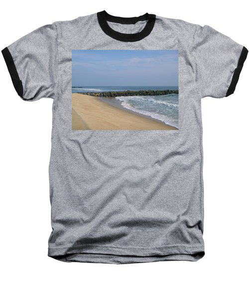 Jetty In Winter Baseball T-Shirt