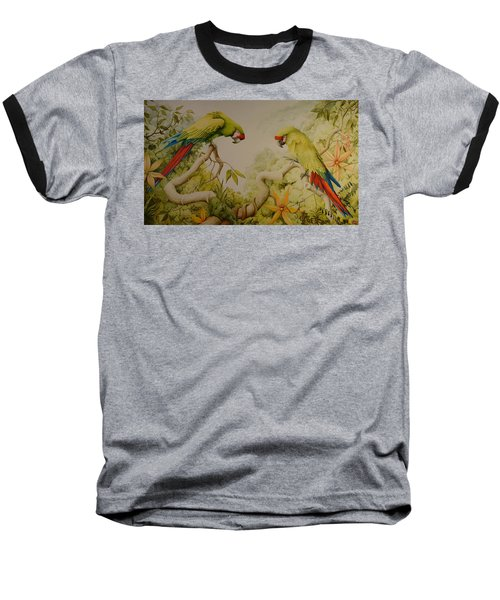 Jewels Of The Rain Forest  Military Macaws Baseball T-Shirt