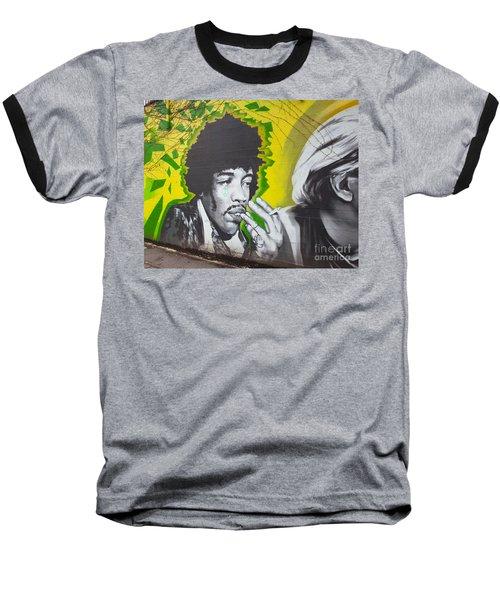 Jimmy Hendrix Mural Baseball T-Shirt