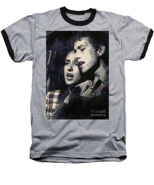 Joan Baez And Bob Dylan Baseball T-Shirt