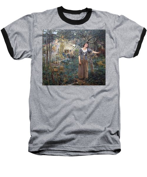 Joan Of Arc Baseball T-Shirt by Jules Bastien-Lepage