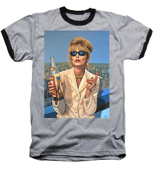Joanna Lumley As Patsy Stone Baseball T-Shirt