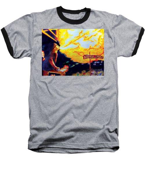 Joe At The Broken Spoke Saloon Baseball T-Shirt by Albert Puskaric