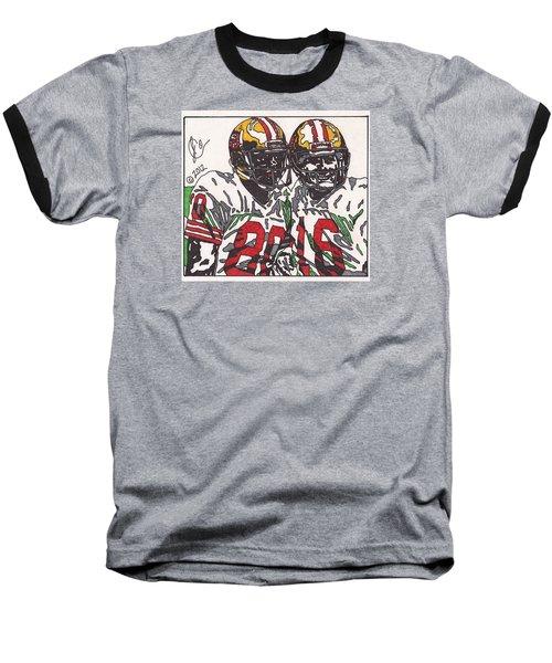 Joe Montana And Jerry Rice Baseball T-Shirt by Jeremiah Colley