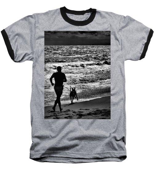 Joggin Wit Dad Baseball T-Shirt by Robert McCubbin