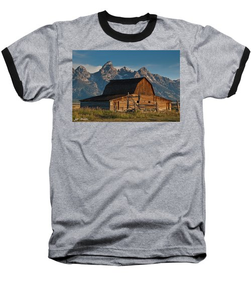 Baseball T-Shirt featuring the photograph John And Bartha Moulton Barn by Jeff Goulden