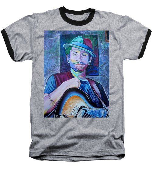 Baseball T-Shirt featuring the painting John Butler by Joshua Morton