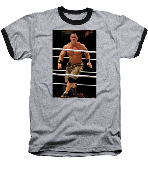 John Cena In Action Baseball T-Shirt