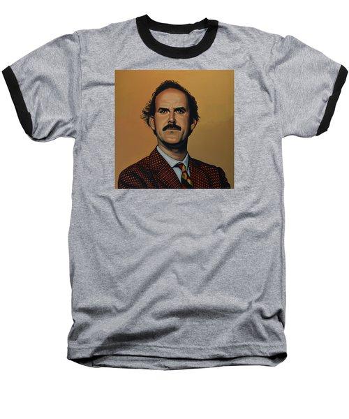 John Cleese Baseball T-Shirt by Paul Meijering