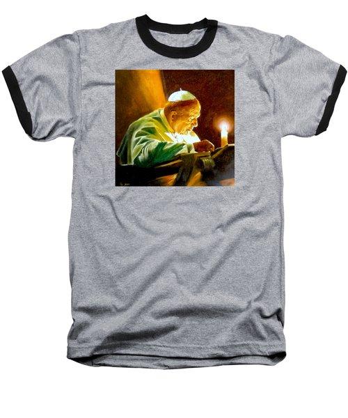 Baseball T-Shirt featuring the painting John Paul II by Henryk Gorecki