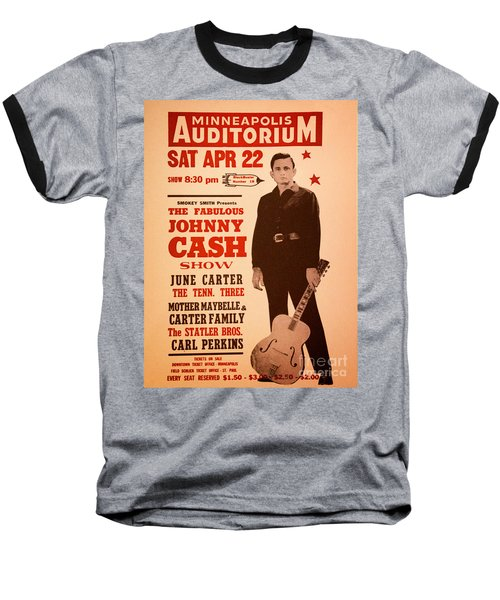 Johnny Cash Baseball T-Shirt