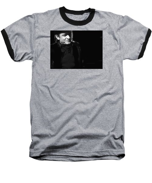 Baseball T-Shirt featuring the photograph Johnny Cash Film Noir Homage Old Tucson Arizona 1971 by David Lee Guss