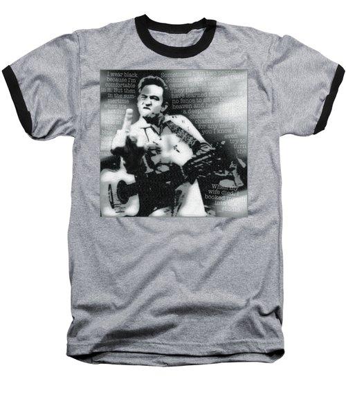 Johnny Cash Rebel Baseball T-Shirt