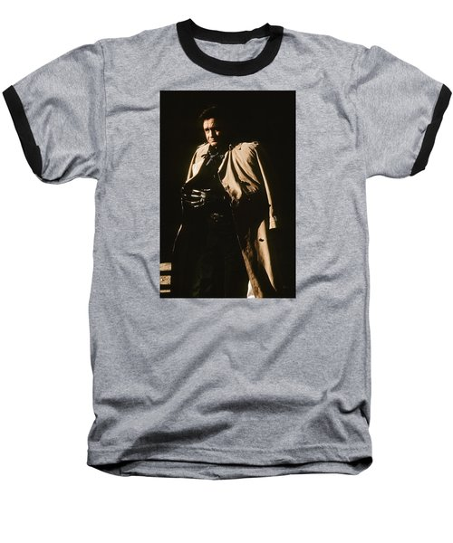 Baseball T-Shirt featuring the photograph Johnny Cash Trench Coat Variation  Old Tucson Arizona 1971 by David Lee Guss