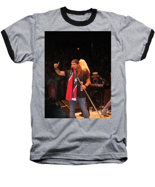 Johnny Van Zant Of Lynyrd Skynyrd Baseball T-Shirt